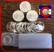 2004-S Silver Proof Iowa Quarters Roll (40 coins) -- from proof sets