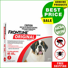 Frontline Original For Extra Large Dogs 40-60 Kg Red Pack 4 Pipettes by Merial