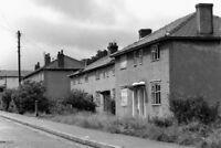 PHOTO  DERELICT COUNCIL HOUSES MILAN AVENUE BURNLEY LANCASHIRE 1988