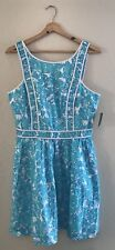 NWT Lilly Pulitzer Women's Becky Dress Shorely Blue She's a Fox Size 8 $188