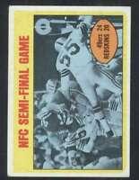 1972 Topps #136 NFC Semi-Final NM/NM+ 62828