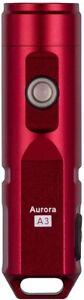 A3X 600 Lumens USB Rechargeable Flashlight, Cree XP-G3, RED, RovyVon