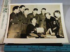 Rare Historical Orig VTG 1942 Belligerent Official Magazine US Troops UK Photo