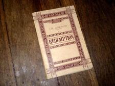 La rédemption trilogie sacrée partition solo choeurs et piano 1927 Gounod