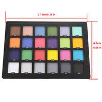 AU Professional 24 ColorChecker White Balance Card for Camera Color Correction