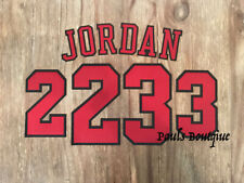 JORDAN #23 Lettering for Authentic Home Chicago Bulls Jersey