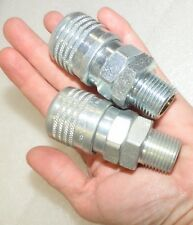 """(2 Count) Quick Connect Sleeve Couplers 1/2"""" body x 1/2"""" male pipe D581"""