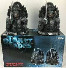 """Planet Of The Apes NECA 2001 Digitally Sculpted 7"""" Resin Bookends Set Of Two New"""