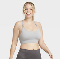 Women's Medium Support Seamless Cami Bra All In Motion Light Gray  Size S*
