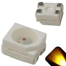 100 x LED PLCC4 1210 3528 Yellow Gold SMD LEDs Light Super Ultra Bright PLCC-4