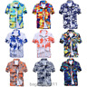 US Men's Hawaiian Shirt Summer Floral Printed Beach Short Sleeve Tops Blouse HOT