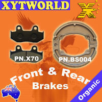 FRONT REAR Brake Pads Shoes HONDA SH 150 i-D9 (Fuel Injection/Rear Drum) 2009