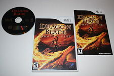 Dragon Blade Wrath Of Fire Nintendo Wii Video Game Complete