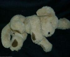 "10"" GUND LAYING MUTTSY PUPPY DOG BROWN TAN STUFFED ANIMAL PLUSH TOY SMALL PUP"