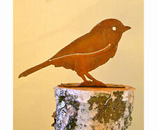 Chickadee Bird Rusty Metal Silhouette Accent for Inside or Out, Porch, Fence