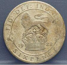 Verenigd Koninkrijk  United Kingdom six pence 1922