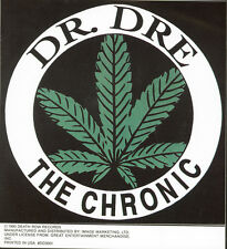 DR DRE - THE CHRONIC - STICKER/DECAL - BRAND NEW VINTAGE - MUSIC WEED 051