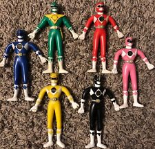 Vintage Mighty Morphin Power Rangers Bendable Figure Set 90s Collectible Lot