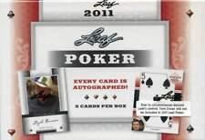 2011 Leaf Poker Factory Sealed Hobby Box