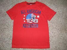 "Boys Gymboree ""Star Spangled Summer"" American Football Flag Shirt Size 12"