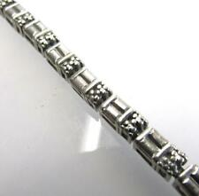 925 STERLING SILVER GENUINE DIAMOND ACCENT TENNIS BRACELET 8 INCH ~SB7~