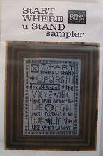 Bent Creek - START WHERE U STAND SAMPLER - Cross Stitch Chart w/star buttons