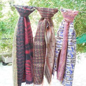 Indian Hand Vintage Kantha Scarf Fashion Assorted Silk Kantha Stole HijabScarves