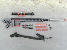 1/6 scale toy ZERT - Sniper Team - Black MRAD Sniper Rifle w/Accessory Set