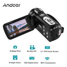 Andoer PC USB Video Camera WiFi 24MP 4K+10X Optical Zoom Remote w/ 128GB TF Card