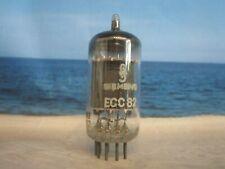 ECC82 SIEMENS # ( 12AU7 E82CC CV400 ) # 17 mm Plates # NEAR NOS # (2833)