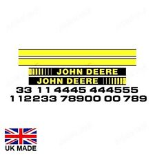 DECAL set encaja John Deere 1750 1850 1950 2250 2450 2650 2850 3050 3350 3650