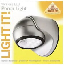2- Light It 6-LED Battery Operated Porch Light Fixture, Two Fixtures