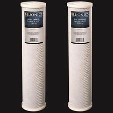 """Big Blue CTO Carbon Block Water Filters 2pcs 4.5"""" x 20"""" Whole House Cartridges"""