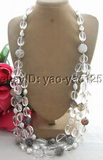 Q112806 Charming! Keshi Pearl&Agate&Crystal Necklace