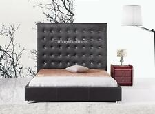 #4006 Gorgeous Modern Queen Size Black PU Leather bed