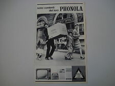 advertising Pubblicità 1963 TELEVISORE PHONOLA