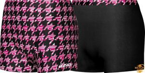 Asics Women's Reversible Spandex Volleyball Athletic Shorts, Pink/Black, NEW!
