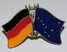 Amistad spin pin ele Alemania/Alaska bandera button metal pins nuevo