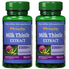 Milk Thistle 1000mg 4:1 Extract 2X90 or 1X180 (Silybum marianum) by Puritan