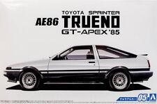 1985 Toyota Sprinter Trueno AE86 GT-APEX 1:24 Model Kit Bausatz Aoshima 051566