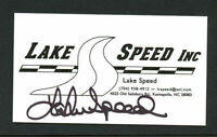 Lake Speed signed autograph auto Lake Speed Racing Business Card BC438
