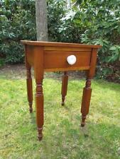 ANTQUE PERIOD 19c NEW ENGLAD , NEW YORK TIGER MAPLE 1 DRAWER STAND OR TABLE