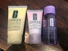 Clinique - 3 items - Cleanser (1 oz), Lotion (1.7 oz), Make-up Remover (1.7 oz)