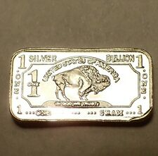 1 Gram 999 Fine Silver Bullion Bar in the Iconic Buffalo Design