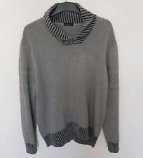 Henri Lloyd grey heavy cowl neck jumper pullover in excellent condition. Size XL