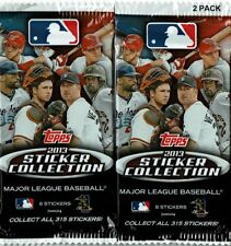 2013 Topps Baseball Sticker Collection TWO 8 Sticker Packs