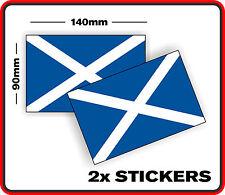 SCOTLAND COUNTRY SCOTTISH FLAG STICKER DECAL 2 BUMPER CAR WINDOW VINYL SCRAPBOOK