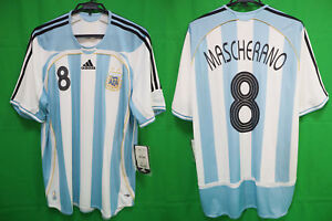 2006-2007 Argentina AFA Jersey Shirt Camiseta Home Adidas Mascherano #8 XL BNWT