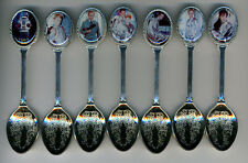 Lost in Space 7 Silver Plated Spoons Featuring Lost in Space