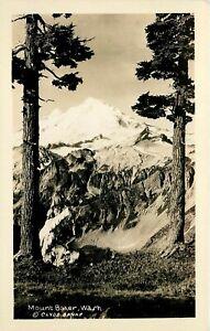 WASHINGTON RPPC POSTCARD: SCENE OF MOUNT BAKER, WA, - CLYDE BANKS PHOTO